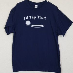 Funny golf tee mens size large